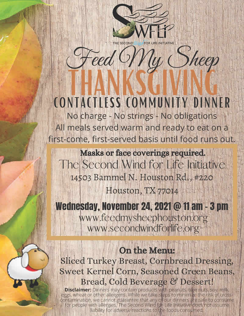Feed My Sheep Thanksgiving Community Dinner 2021